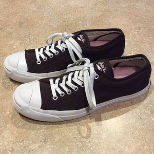 CONVERSE JACK PURCELL BROWN FABRIC SNEAKERS